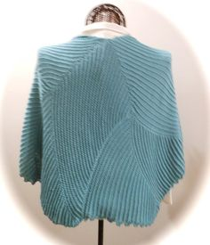 SEAFOAM SWIRLS Knitted Shawl