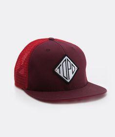 343848397c3 TOPO Designs Snapback Hat Red Diamond Snapback Hats