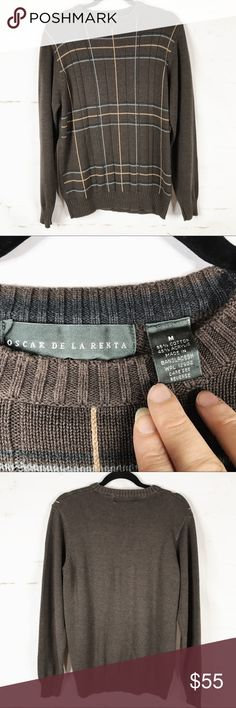 Oscar de la Renta Men's Size Medium Sweater EUC Please see pictures for material and measurements. No rips, tears or stains. Happy to receive offers. Oscar de la Renta Sweaters Crewneck