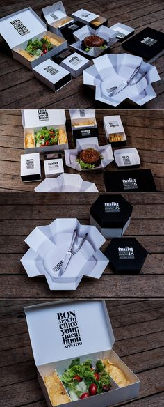 Fast Food packaging by Kiss Miklos.    That design makes the food look yummmmmm.