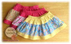 3 tiered skirt tutorial
