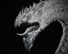 Dragon Bust by William Furneaux | Fantasy | 3D | CGSociety #cg #render #zbrush