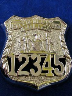 NYPD collectibles and badges Nypd Blue, Fire Badge, Law Enforcement Badges, Sheriff Badge, Police Life, Local Police, Police Patches, Police Officer, Chevrolet Logo