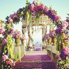 #beautiful #lavender floral #wedding altar captured by Yitzhak Dalal!
