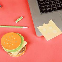 Die perfekten Klebezettel für Burger-Junkies.