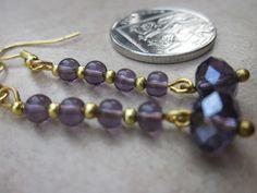 Earrings Rich in Purple £2.50