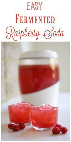 Fermented Raspberry Soda is so easy to make, tart, refreshing, delicious and probiotic-rich. Give this slightly fizzy, healthy drink a try today. | Recipes to Nourish