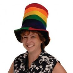 RAINBOW PLUSH STOVE HAT