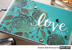 Love Stamps, Ink Stamps, Hero Arts Cards, Flower Stamp, Paper Folding, Ink Pads, Pigment Ink, Online Art, Cardmaking