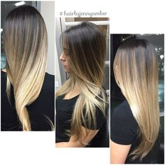 Hair By Jenny Amber - Costa Mesa, CA, United States. Color Melting at its finest! Flawless Balayage Ombré.