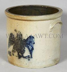 Stoneware Crock | Stoneware, Crock, Two Gallon, Eagle Decoration