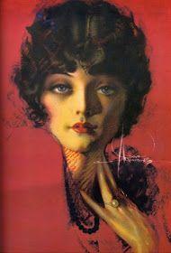 Art Nouveau/Art Deco/Rolf Armstrong/Dream Girl With a Rolf Armstrong, Gil Elvgren, Smash Book, Face Anatomy, Social Determinants Of Health, Portraits, Children Images, Pin Up Art, Art Model
