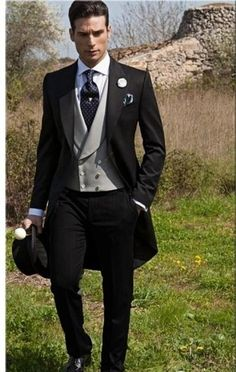 2016 double breasted groom tuxedos jacket+pant+vest wedding suit for men mens fashion tux tuxedos after six groom suits white and black prom suit mens Best Man Wedding, Wedding Men, Wedding Attire, Wedding Tuxedos, Trendy Wedding, Groom Tuxedo Wedding, Gatsby Wedding, Formal Wedding, Bride Groom