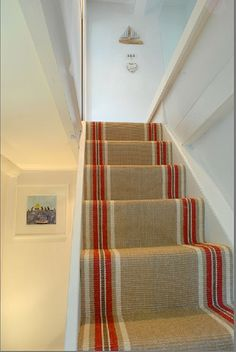 Cost Of Carpet Runners For Stairs Key: 5875312153 Hallway Carpet Runners, Cheap Carpet Runners, Carpet Stairs, Wall Carpet, Stair Runners, Beach Cottage Rentals, Cost Of Carpet, Staircase Makeover, Scrappy Quilts