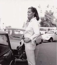 Romy photographed by Helga Kneidl Romy Schneider, Magda Schneider, Alain Delon, Brigitte Bardot, Catherine Deneuve, Sarah Biasini, Bff, Seventies Fashion, Beauty