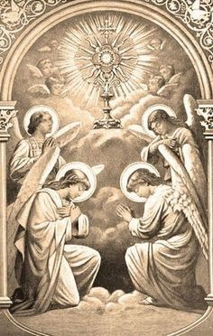 """""""A thousand years of enjoying human glory is not worth even an hour spent sweetly communing with Jesus in the Blessed Sacrament. Catholic Prayers, Catholic Art, Catholic Saints, Roman Catholic, Religious Images, Religious Icons, Religious Art, Catholic Pictures, Worship Jesus"""