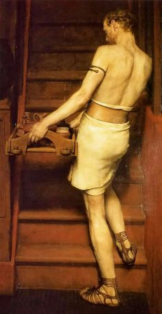 'The Roman Potter', 1884 Painting by Sir Lawrence Alma-Tadema, Dutch - British,  1836-1912