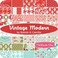 Love it :)  Vintage Modern Fat Quarter Bundle  Bonnie & Camille for Moda Fabrics   Vintage Modern Fat Quarter Bundle includes 40 fat quarters  $124.99