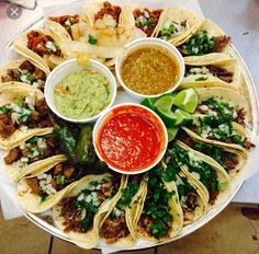 """[I ate] well I try to ate the whole thing again. The """"macho con hambre combo"""" it's a order of 20 tacos with 4 different fillings!"""