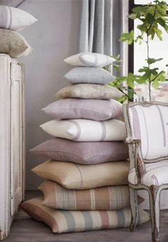 I love to stack and display my favorite things...books, blankets, pillows, linens, etc.   Habitually Chic®: Chic Ile Saint-Louis Collection