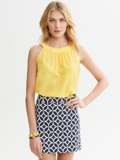 Banana Republic- I need a yellow top for my navy and white skirt. I love the combo.