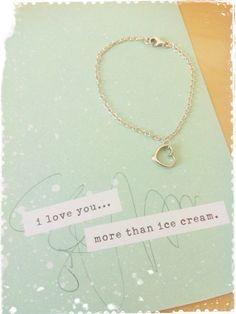 Open heart silver bracelet by Bleuberie on Etsy, $20.00