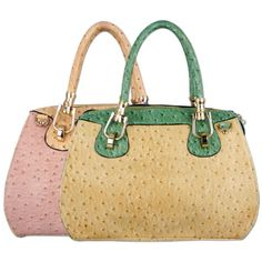 MARISSA Chic Ostrich-embossed Office Tote Top Double Handle Doctor Style Handbag Satchel Purse Shoulder Bag