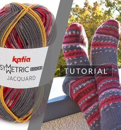 Knitting socks: this is how you get a perfect pair with Jacquard Symmetric Socks How To Make Socks, Learn How To Knit, Knitting Socks, Knitted Hats, Knit Socks, Knitting Patterns Free, Crochet Patterns, Knit Crochet, Crochet Hats