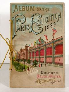 1889 ALLEN & GINTER TOBACCO CARD ALBUM A23 PARIS EXPOSITION EIFFEL TOWER
