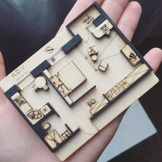 Amazing plan mini model by ⤵ Tag to share your works - image for you Maquette Architecture, Architecture Plan, Interior Architecture, Scale Model Architecture, Amazing Architecture, Planer Layout, Arch Model, Autocad, Presentation Design