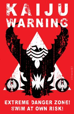 Kaiju Warning Sign by Tracer67.deviantart.com on @deviantART