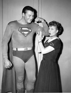 Lucy and George Reeves by Lucy_Fan, via Flickr