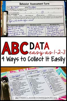 4 Ways to Take ABC Data...Easy as 1-2-3 - Autism Classroom Resources Special Education Behavior, Classroom Behavior, Autism Classroom, Classroom Resources, Classroom Ideas, Self Contained Classroom, Applied Behavior Analysis, Reading Intervention, School Psychology