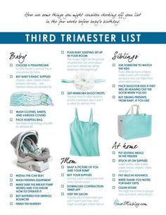 Third trimester checklist-Third trimester checklist Preparing for baby: Third trimester checklist printable preparing for baby prepare for baby - Getting Ready For Baby, Preparing For Baby, Baby Planning, Before Baby, Baby On The Way, Baby Coming, Baby Makes, Everything Baby, Baby Needs