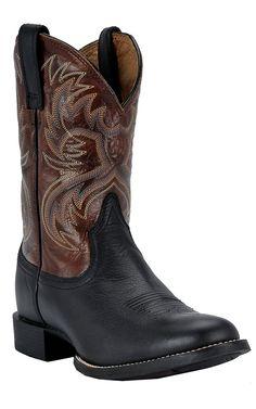 Ariat® Heritage Horseman™ Men's Black Deertan with Bloodstone Cowboy Boots