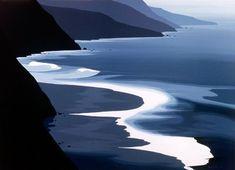 wasbella102 Gray Coastline By Eyvind Earle