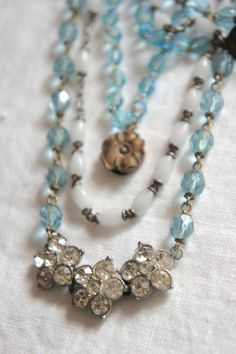 Summer DaysVintage assemblage necklace by frenchfeatherdesigns, $144.00