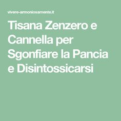Tisana Zenzero e Cannella per Sgonfiare la Pancia e Disintossicarsi Health Fitness, Wellness, Math Equations, Education, Beauty, Snow, Weights, Diet, Herbal Teas
