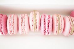 some light pink and some hot pink... frosting on the inside to be the same color