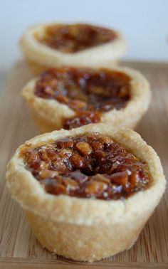 Mini pecan pies! One of my absolutely Fav's!
