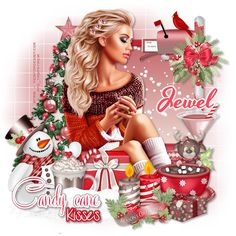 Délire2scrap Tutorials: FTU - Candy Cane Kisses Christmas Tag, Xmas, Six Girl, Digital Art Anime, Boy Images, Paint Shop, Psp, Girly Girl, Candy Cane