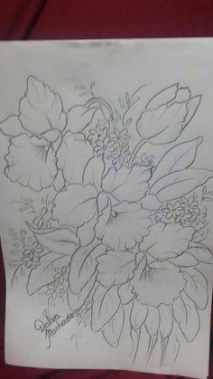 Risco para pintura orquideas