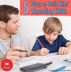 5 activities to help develop your child's rounding skills and build number sense. #STEM