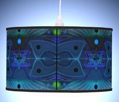 Pendant Lamp with symmetric Fantasy Digital Art Decor - Spaceship Interior