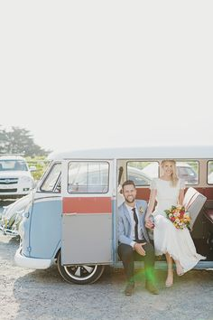 Play Punch Buggy with 13 Weddings with Volkswagen Kombi's - Style Me Pretty