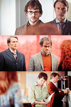 Hannibal: Hugh Dancy as Will Graham and Mads Mikkelsen as Hannibal.