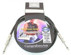 Comprehensive Performer Series 1/4-inch Instrument Cable with Assembled Metal Connectors 10ft by Comprehensive. $8.79. Whether rehearsing or on stage, Comprehensive Performer Series audio cables are designed for musicians and performers who demand the best. Performer Series audio cables feature low-noise construction utilizing a 24 gauge center conductor and 90% shielding which provides note for note audio reproduction. Comprehensive's famous XtraFlex jacket pr...