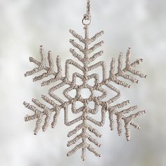 Twine Snowflake Ornament  | Crate and Barrel