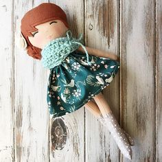 I named her Ginger ... can you guess why? ❤ #handmadedoll #spuncandydolls #etsyshop #helloolliecollection