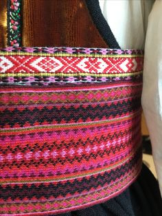 Folk Costume, Costumes, Tablet Weaving, Norway, Straw Bag, Knitting, Color, Girdles, Weaving